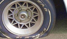 タイヤ交換のタイミングのイメージ